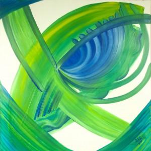 Modro-zelené oko